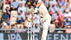 England's Jos Buttler plays a shot