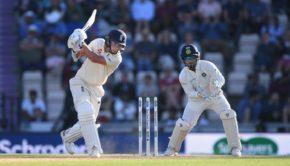 India wicketkeeper Rishabh Pant looks on as England batsman Sam Curran picks up some runs