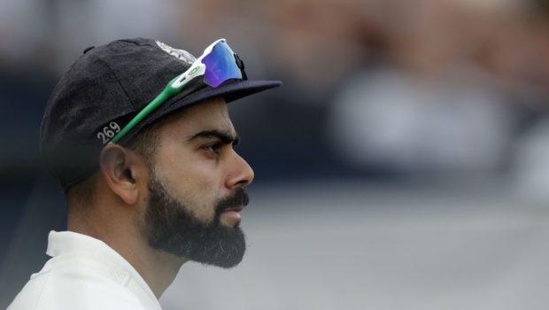 India's captain Virat Kohli looks on