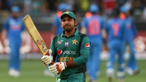 Pakistan cricket captain Sarfraz Ahmed leaves the field