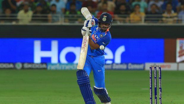 Indian cricketer Shikhar Dhawan plays a shot