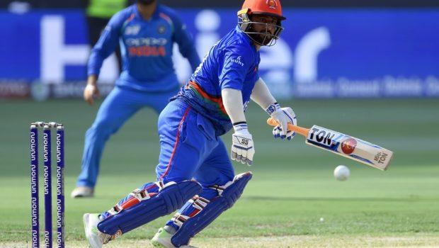 Afghan batsman Mohammad Shahzad plays a shot