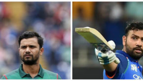 Mortaza and Rohit Sharma