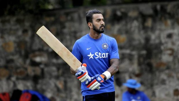 India's KL Rahul during a training session