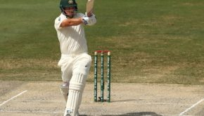 Aaron Finch in action against Pakistan at Dubai, 1st test, 2018