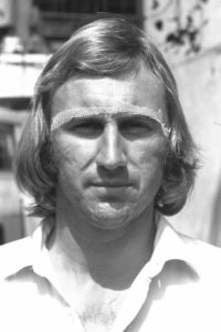 John Lever, the man and the strip. Image Courtesy: ESPNcricinfo
