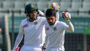 Mushfiqur Rahim's guidance and composure played a big role to help Mominul Haque get out of his lean patch. Image Courtesy: Getty Images