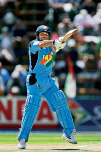 Sachin Tendulkar smacks Shoaib Akhtar for a six at third man, Group Match, Centurion, ICC World Cup 2003.