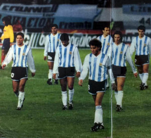 A shocked Argentine players leaving the field after the catastrophe. Image Courtesy: Wikipedia