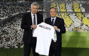 Carlo Ancelotti with Florentino Perez during the Presentation. Image Courtesy: Telegraph UK