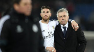 Sergio Ramos and Carlo Ancelotti. Image Courtesy: Varzesh11