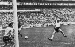 Schnellinger equalizes for Germany. Image Courtesy: Planet World Cup