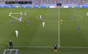 Rodrygo Goes setting up the second goal of Real Madrid. Image Courtesy: Twitter
