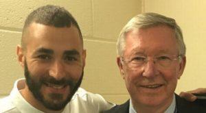 Karim Benzema and Sir Alex Ferguson. Image Courtesy: Mirror UK
