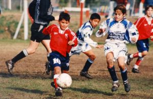 A young Sergio Aguero in action. Image Courtesy: Twitter