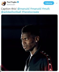 This tweet was posted on Manchester United midfielder Paul Pogba's account before being deleted soon after. Image Courtesy: BBC