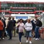 Spectators leave Old Trafford Cricket Stadium after it was cancelled