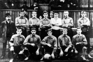 An early Newcastle United team, pre-black and white stripes, mid-1893. Image Courtesy: Chroniclelive