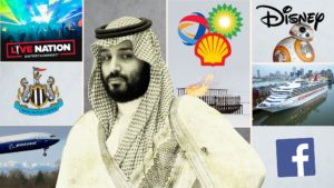 Saudi Public Investment Fund and their investments. Image Courtesy: Financial Times
